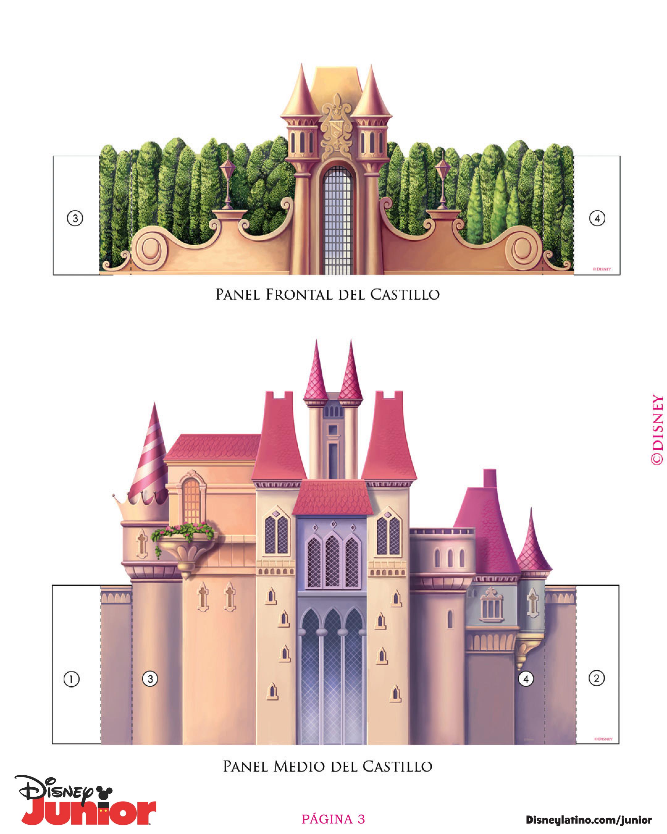 Как сделать из бумаги замок для принцессы